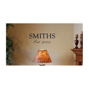 FAMILY NAME AND ESTABLISHED DATE Vinyl wall art quotes and sayings ...