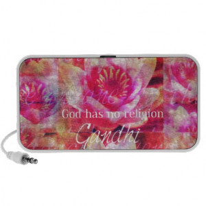 God has no religion - Gandhi quote Portable Speakers