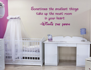 Winnie the Pooh wall quote sticker nursery baby