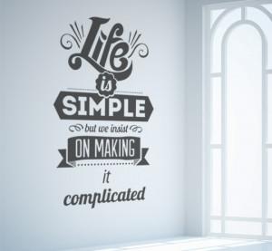 Life is Simple room mockup