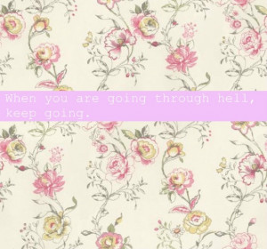 background, floral, flowers, hell, life, pretty, quotes, stay strong ...