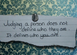 You're judgmental - Signs You're a Narrow Minded Person