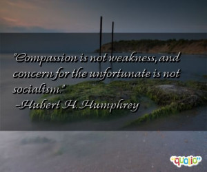 Compassion is not weakness, and concern for
