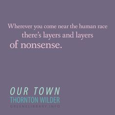 our town essays stage manager Our town at the pasadena playhouse  and the little town of  jane kaczmarek provides a warmth and intimacy to the role of the stage manager that envelops the.