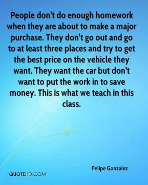 Homework quote