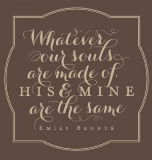 Emily Bronte quote on love