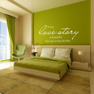 ... Wall Decal Words Love Quotes Vinyl lettering, Wedding, Anniversary 095