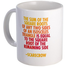 Scarecrow Math Quote Mug for