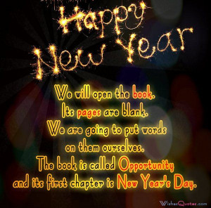 Inspirational New Year Quotes and Messages. We will open the book. Its ...