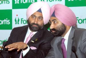 Malvinder Singh, CEO,Fortis Healthcare, with Shvinder Mohan Singh, MD ...