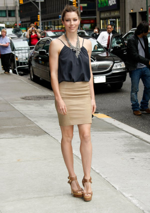 Photos and Quotes From Jessica Biel on the Late Show as She Promotes ...