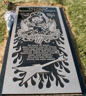 RIP Dimebag Darrell this is his actual grave Celebrate National ...