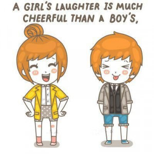 Girl's Laughter Is Much Cheerful