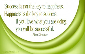 happiness happiness is the key to success if you love what you are ...