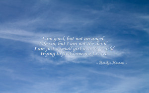 am good but not an angel... quote wallpaper