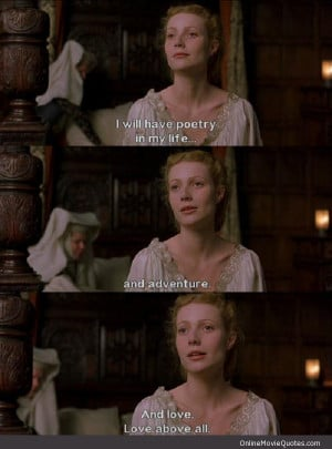 a movie analysis of shakespeare in love Based on the academy award-winning film, shakespeare in love tells the  story of young will shakespeare, who is suffering a severe case of writer's block.