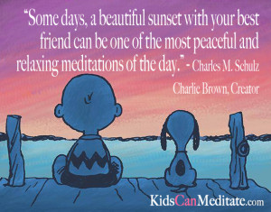 Great Meditation Quote from Charles M. Schulz Creator of Charlie Brown ...