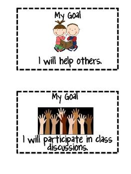 students reach personal goals students will choose a weekly goal and ...