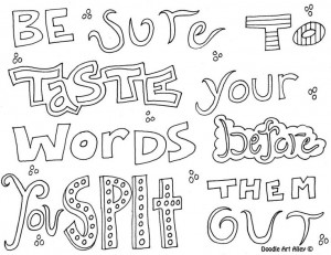 Quotes Coloring Pages Doodle...