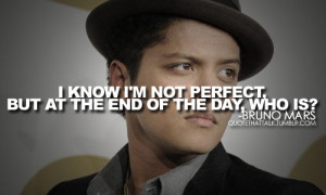 Bruno Mars has quotes that make sense in the world