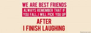 Download Quote facebook cover, 'Best friends facebook photo cover'.