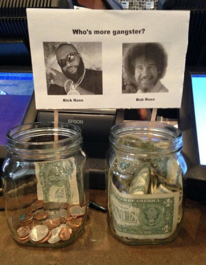 Who's more gangster? Rick Ross or Bob Ross