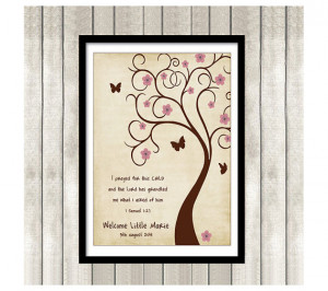 Bible verse Thumbprint Tree Guest Book Poster Printable Baby Shower ...