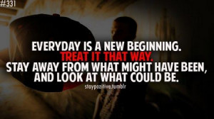 Motivational Quote: Everyday Is A New Beginning