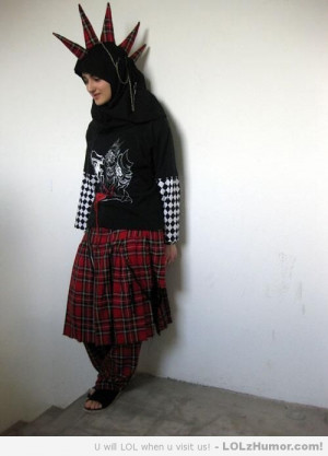 Funny Pictures Muslim Punk Girl