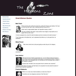 Hitchens Zone - Great Atheism Quotes. Mark Twain