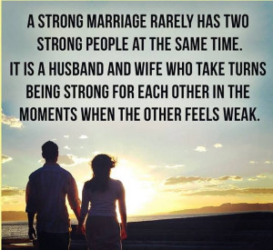 being strong for each other