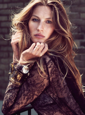 Harper's Bazaar UK features a cover story starring Gisele Bundchen ...