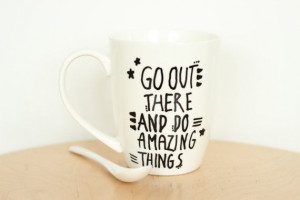 Coffee Mug/ Inspirational Mug/ Inspirational quote/ Tea Cup op Etsy ...