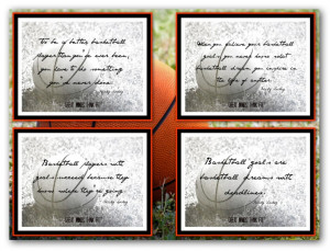 Basketball Poster with Quotes
