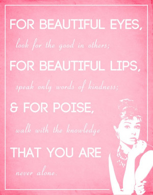Audrey Hepburn Quote Poster by coralRhino on Etsy
