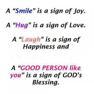 ... And A 'Good Person Like You' Is A Sign Of God's Blessing