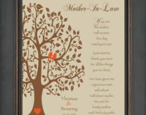 Wedding Gift for Mother In-Law - Fu ture Mom In-Law Gift - Thank You ...