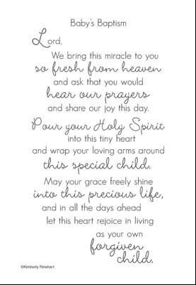 Baby's Baptism Poem