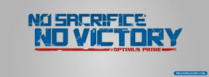 Click below to upload this No Sacrifice No Victory Cover!