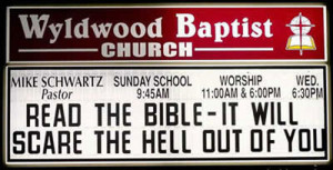 Funny church sign sayings