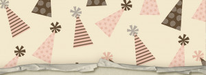 Vintage Birthday Party Hat Pattern with torn paper on bottom Facebook ...
