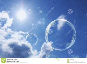 soap bubble against a cloudy sky background to download soap bubble ...