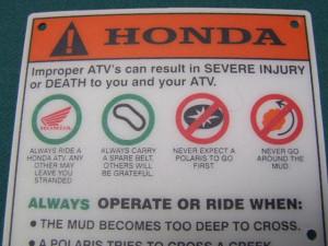 Funny Honda Sayings Honda atv trx650 680 500 450