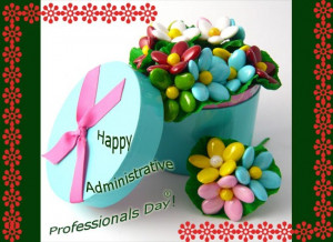 Celebrate happy administrative professionals day with flowers quotes