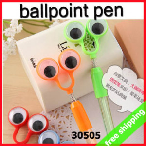 FREE SHIPPING ballpoint pen cute eyes frog office smooth writing ...