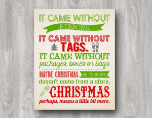How The Grinch Stole Christmas Printable Quote by scootapie, $5.00