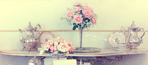 Facebook Quotes Maker: Old photo of classic vintage table set