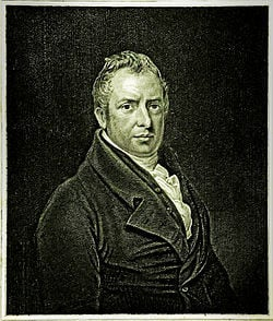An engraving of Joseph Strutt by H.R. Cook