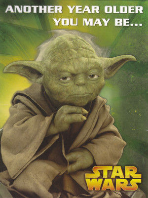 Star Wars - Yoda Birthday Card [Sound Card]