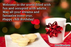 Happy 18th Birthday Quotes For Boys Happy 18th birthday!